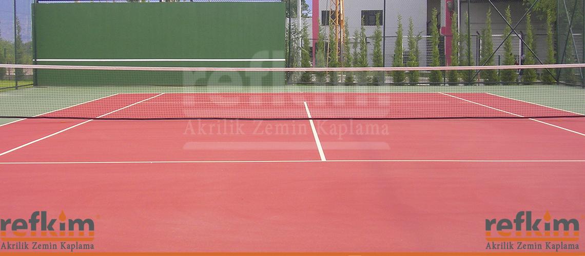 akrilik tenis kortu, tenis kortu, tenis akrilik,